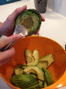 Avocado peel slice